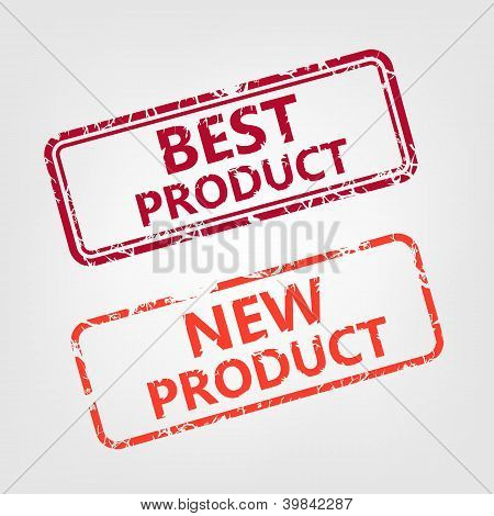 Best product and New product rubber stamp