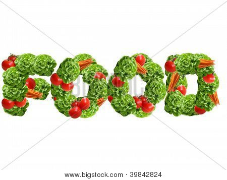 Food Word Made Of Vegetables