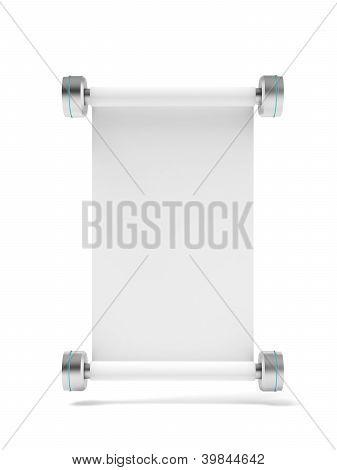 Modern metal scroll
