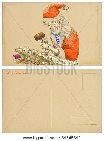 Design Christmas cards - Santa Claus