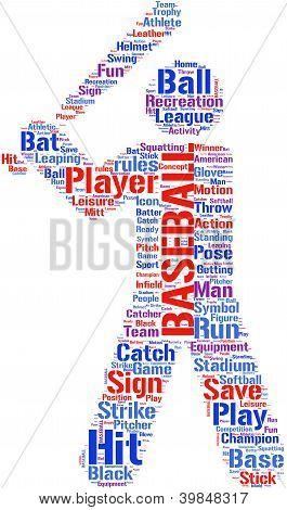 baseball tagcloud pictogram