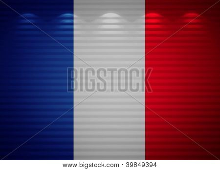 French Flag Wall, Abstract Background