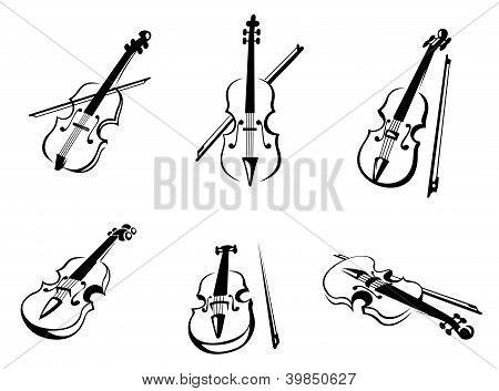 Classical violins instruments