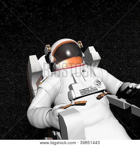 Astronaut In Space - 3D Render