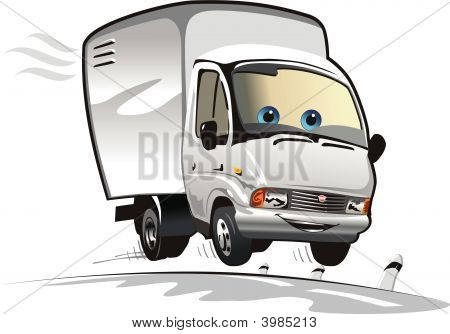 Vector Cartoon LKW