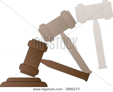 Gavel With Motion.