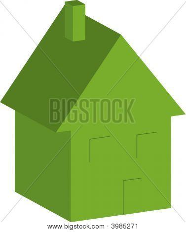 House 3D Green.