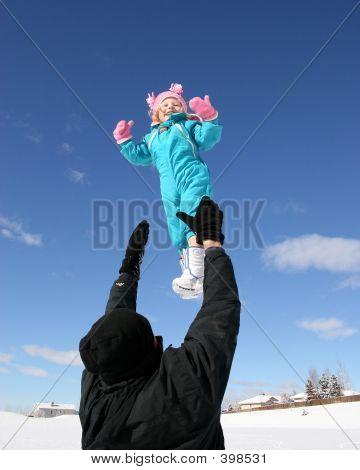 Little Girl In Air
