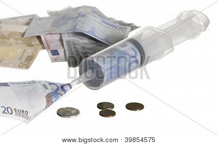 Syringe Filled With Money