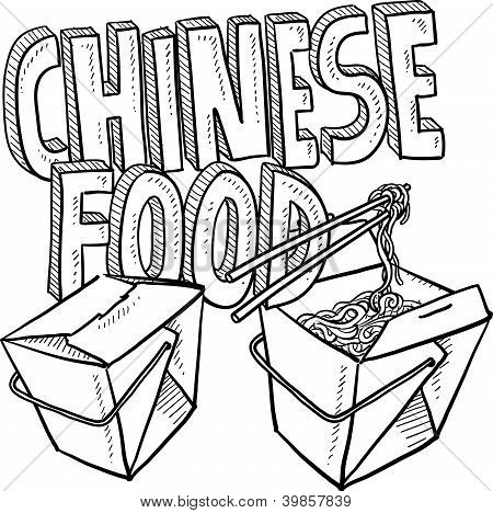 Chinese food sketch