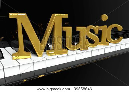 Golden Music Sign