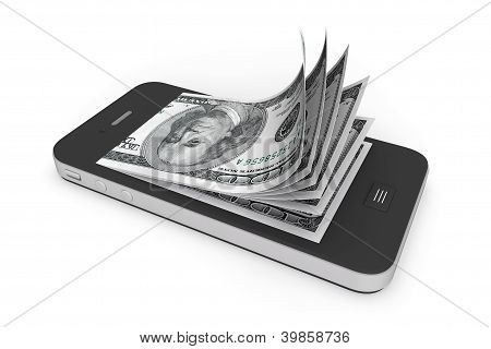 Money In Mobile Phone