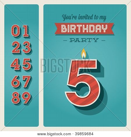 Birthday card invitation editable