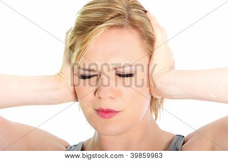Woman Suffering From A Headache