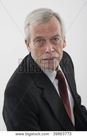 Portrait Of A Serious Senior Man