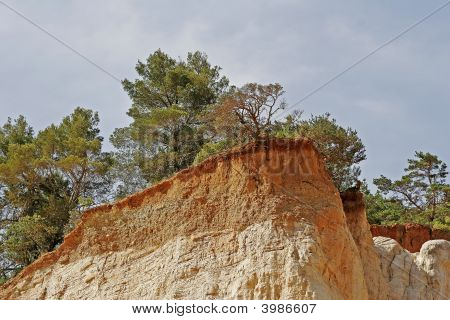 Ocher Rocks (french Colorado) Near Rustrel, Luberon, Provence, Southern France