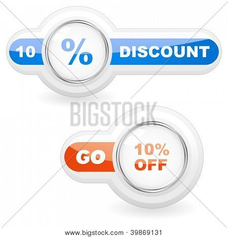 Discount icon. Vector illustration.