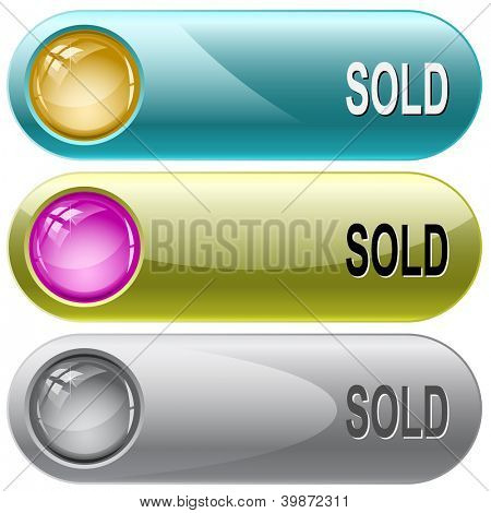 Sold. Internet buttons. Raster illustration. Vector version is in my portfolio.