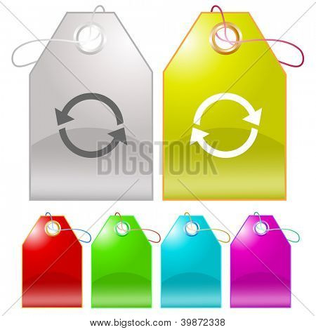 Recycle symbol. Raster tags. Vector version is in my portfolio.
