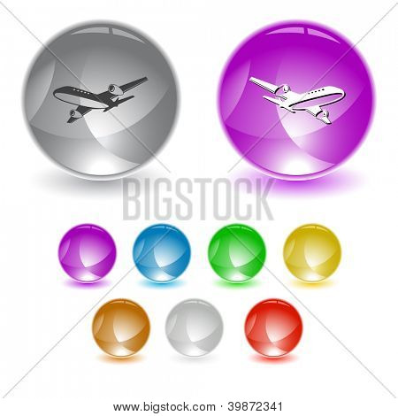 Airliner. Raster interface element. Vector version is in portfolio.