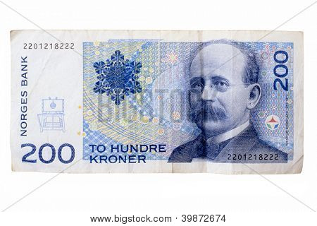 Norway currency isolated on white background