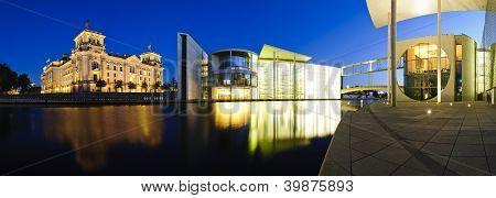 Berlin Government Buildings At Night