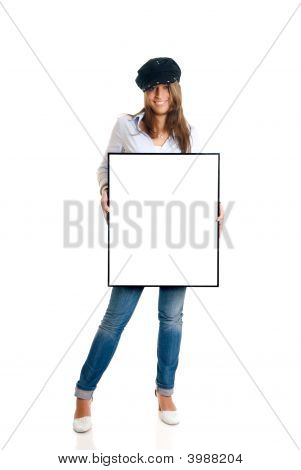 Fashionable Woman Advertising