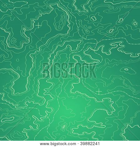 Topographic Map Green