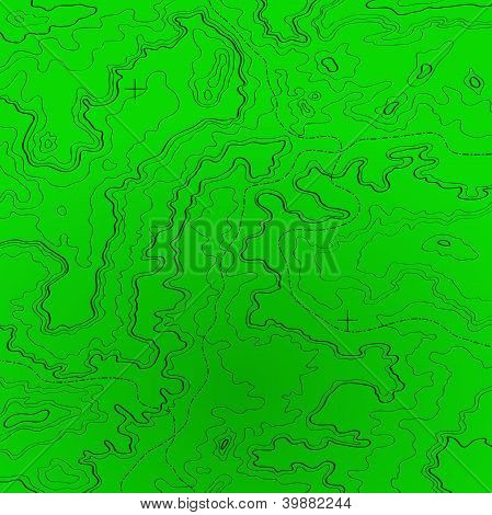 Topographic Map Radar Colors