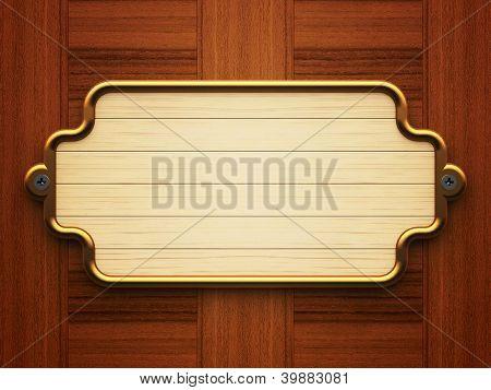 Wooden Doorplate