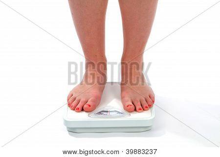 Frau Füße Skala