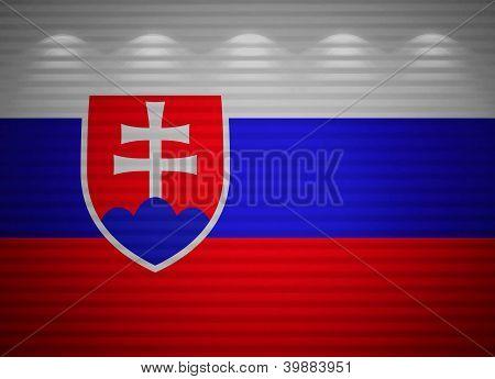 Eslovaco bandera pared, antecedentes