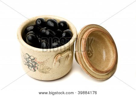 Black Olives In Pot