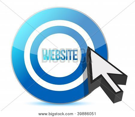 Website Target Illustration