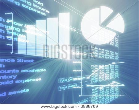 Ilustração de gráficos de negócios de planilha