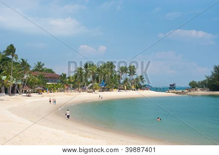 Singapore - May 3: Sentosa Is A Popular Island Resort In Singapore, With Attractions That  Include A