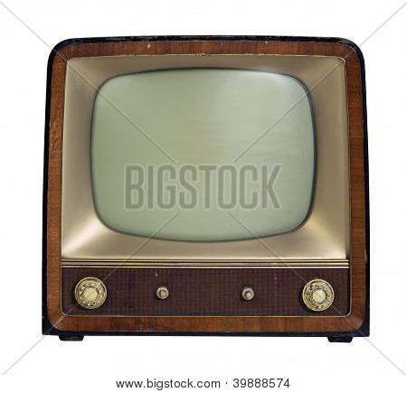 Nostalgic Old Tv Set