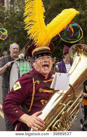Band Member In Solstice Parade