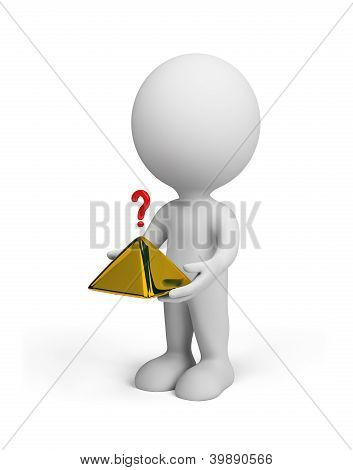 3D Person With A Pyramid