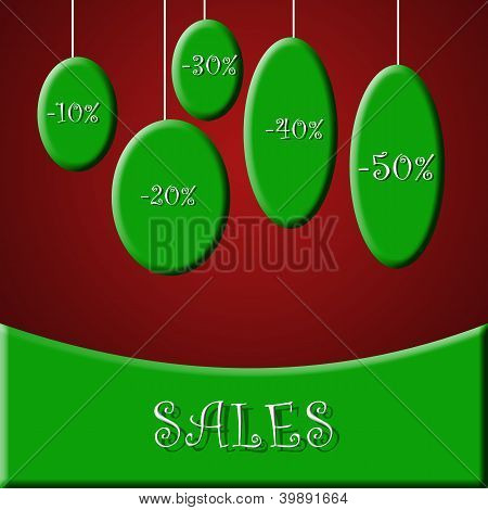 Christmas promo & sales concept
