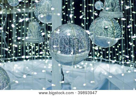 Silver ball ,christmas symbol