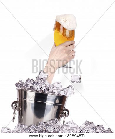 Glass Of Beer  Breaks The Ice