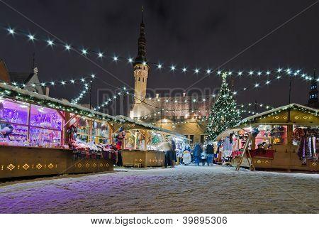 The Christmas Market In Tallinn