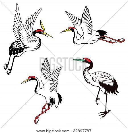 Set Of Chinese Heron