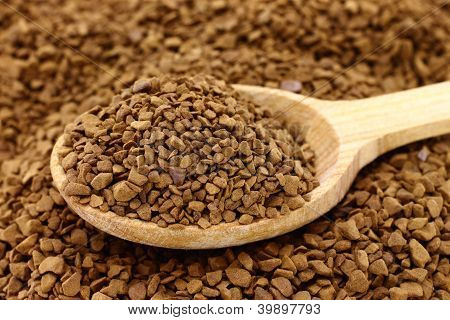 Background of ground coffee