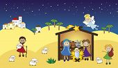 image of christchild  - a illustration of funny nativity for children - JPG