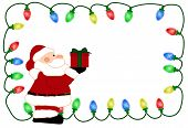foto of nic  - Christmas Light Background with Santa for your message or invitation with copy - JPG