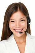 picture of vivacious  - Close up shot of smiling call center operator - JPG