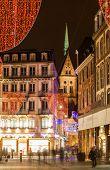 Постер, плакат: Рождественские украшения на улицах города Страсбург Эльзас Франция