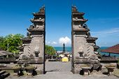 picture of tanah  - This image shows the Tanah Lot temple Gates in Bali island indonesia - JPG